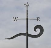 Wind Vane. This wind vane is situated in a park at the beach at Waratah Bay, Victoria royalty free stock photos