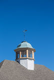 Wind Vane on Cupola Under Clear Blue Sky Royalty Free Stock Photo