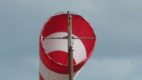 Wind vane near an airport. Cevennes, France stock video
