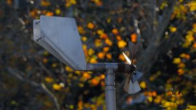 Wind vane with propeller. 4k stock footage