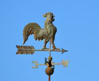 Wind Vane. A rusty metal wind vane royalty free stock photos