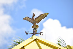 Wind vane in the shape of the duck Royalty Free Stock Photo