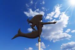 Wind Vane shaped Mermaid Royalty Free Stock Images
