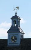 Wind Vane. A Wind Vane on Top of a Clock Bell Tower stock photos