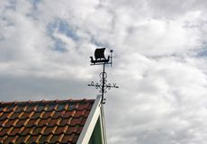 Wind vane with Viking boat Royalty Free Stock Photo
