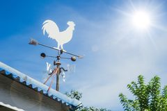 Wind Vane or weather vane chicken style rotate by wind blow Royalty Free Stock Photos
