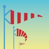 Wind vane, weather vane in vector. Three striped wind vanes in vector vector illustration