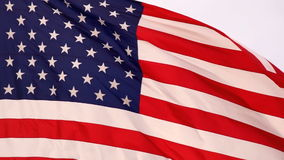 Wind Waving Bright Patriotic American Flag Stars and Stripes stock video footage