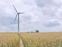 Wind wheel on field Royalty Free Stock Photo