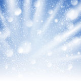 Wind winter sky with snowing illustration Royalty Free Stock Photos