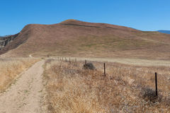 Wind Wolves Preserve hiking trail. The preserve is managed by the Wildlands Conservancy and covers 90,000 acres in the San Emigdio Mountains at the southern end stock image
