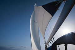 Wind in yacht sails Stock Images