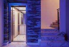 Winda I schodki w hotelu zdjęcie royalty free