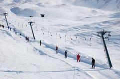 winda na nartach Obrazy Stock