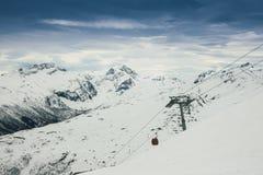 winda na nartach Obraz Stock