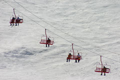 winda na nartach Zdjęcia Royalty Free