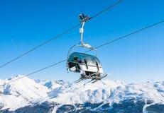 winda na nartach Ośrodek narciarski Livigno Fotografia Royalty Free