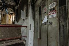winda z podpisuje wewnątrz fabrykę Zdjęcia Stock