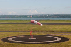 Windbag no aeródromo fotografia de stock royalty free