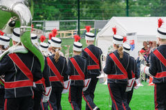 Windband or Brass Band performing in uniform Royalty Free Stock Photos
