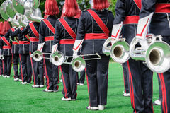 Windband or Brass Band performing in uniform Stock Photography