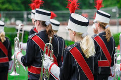 Windband or Brass Band performing in uniform Royalty Free Stock Image