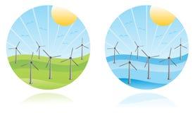 Windbauernhof Stockfoto