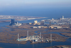 Windbauernhof in Atlantic City Stockbild