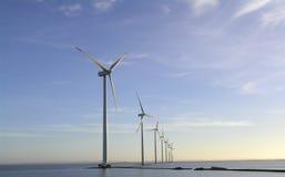 Windbauernhof Offshore Lizenzfreie Stockfotos