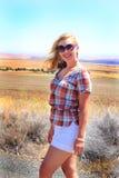 Windblown Beauty Royalty Free Stock Photography