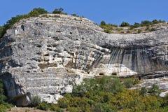 Windblown Felsen belichtet durch die Sonne krim Stockfotos