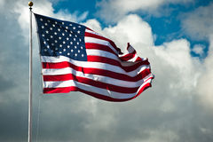 Windblown Flag Stock Image