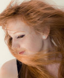 Windblown Hair Stock Photos