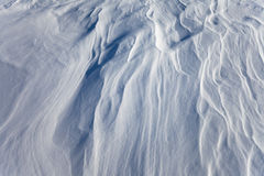 Windblown snow surface, background pattern Stock Images