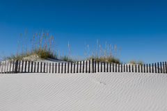 Windblown sugar white sand on Pensacola Beach Florida. This is an image of the sugar white sands that have been windblown into ripples along the dunes of Stock Image