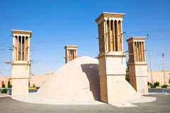 Windcatcher of an old house , Yazd, Iran Royalty Free Stock Images