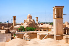 Windcatcher and roors, Kashan, Iran Royalty Free Stock Photo