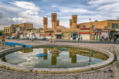 Windcatcher towers in Yazd Stock Images