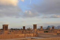 WINDCATHERS TRADICIONAL EN YAZD Fotos de archivo libres de regalías