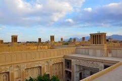 WINDCATHERS TRADICIONAL EN YAZD Foto de archivo libre de regalías