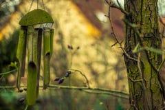 Windchime nel giardino ceco Immagine Stock