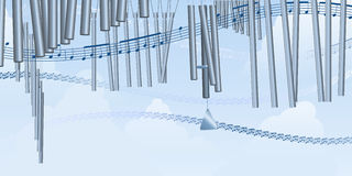 Windchimes and music Royalty Free Stock Image