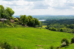 Winde-heuvellandschap, Kent Royalty-vrije Stock Foto's