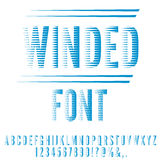 Winded stylized font Stock Images