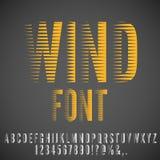 Winded stylized font Stock Image