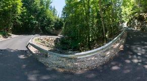 Windende bergweg, trans-Rarau Royalty-vrije Stock Fotografie