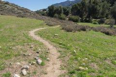 Windende het Lopen Weg in Santa Clarita Royalty-vrije Stock Afbeeldingen