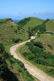 Windende landweg Royalty-vrije Stock Foto's