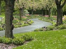 Windende tuinweg Stock Afbeeldingen
