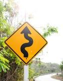 Windende Verkeersteken Stock Afbeelding
